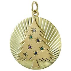 Christmas Tree Dearest Gold Charm Engraved To My Beloved Wife