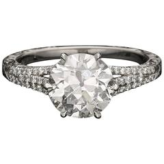 Hancocks Beautiful Old European Cut 2.05 carat Diamond Solitaire Ring