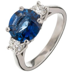 Peter Suchy 2.19 Carat Ceylon Sapphire Diamond Platinum Engagement Ring