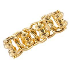 1960s Chunky Gold Link Bracelet