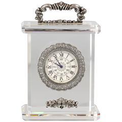 Buccellati Rock Crystal Sterling Silver Limited Edition Desk Clock