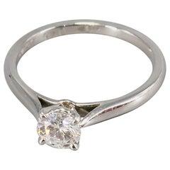 Cartier .45 Carat Diamond and Platinum Engagement Ring