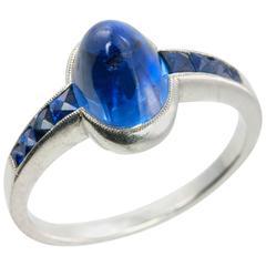 1930s Art Deco Sapphire Platinum Ring