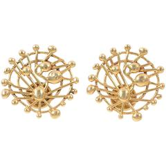 Juan Soriano Gold Earrings for Tane