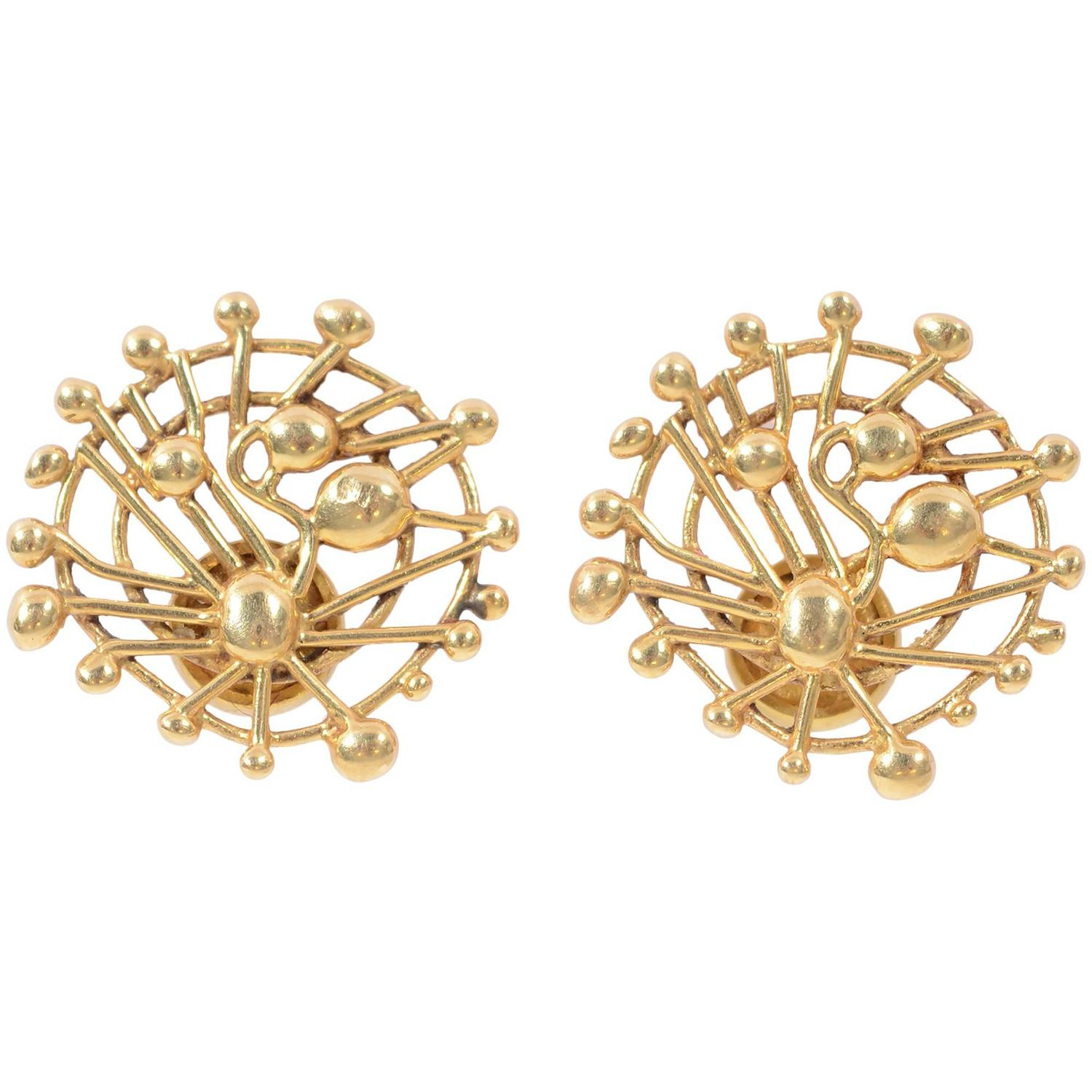 Yafa signed jewels new york ny 1stdibs page 4 - Juan Soriano Gold Earrings For Tane
