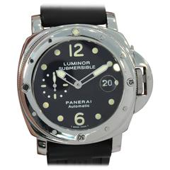 Panerai Stainless Steel Luminor Submersible Automatic Wristwatch Ref PAM00024