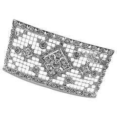 1950s Tiffany & Co. Diamond Platinum Pin Brooch
