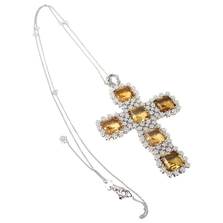 Pasquale Bruni Marilyn Citrine Diamond Gold Pendant Necklace