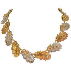 Buccellati leaf motif necklace