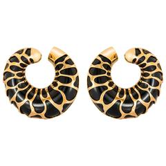 Giraffe Motif Earrings by Marina B