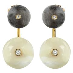 TPL Vermeil Diamond Labradorite Mother-of-Pearl Earrings