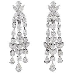 Cartier Diamond Tulipe Chandelier Earrings Gia Certified For At 1stdibs