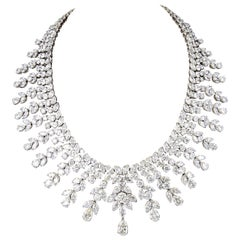 Diamond Scene Important 150 Carat Diamonds Platinum Drop Necklace