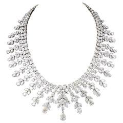 Diamond Scene Important 150 Carats Diamonds Platinum Drop Necklace