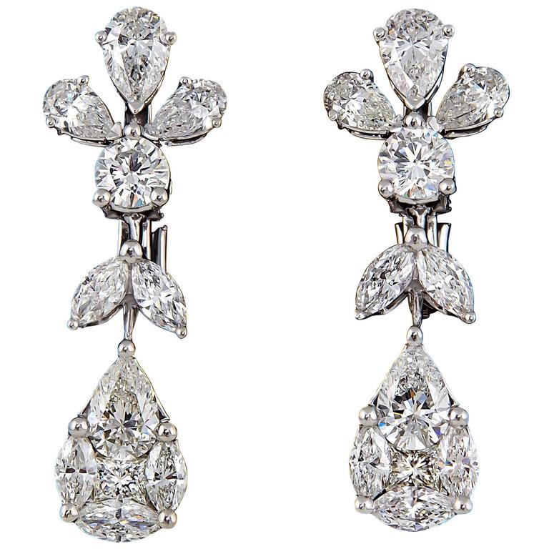 Classic Diamond Drop Earrings