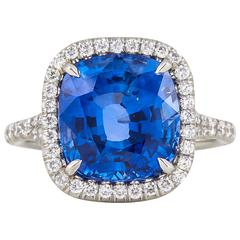 Incredible AGL Certified 6.50 Carat Ceylon Sapphire Ring