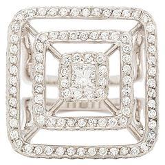 "Mimi So New York ""Piece Collection"" Diamond White Gold Pyramid Ring"