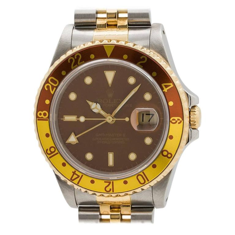 Rolex GMT II ref# 16713 SS/18K YG circa 1991 1