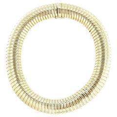 bulgari late 20th century gold trika necklace at