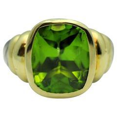 David Yurman Noblesse Gold, Sterling, Peridot Ring