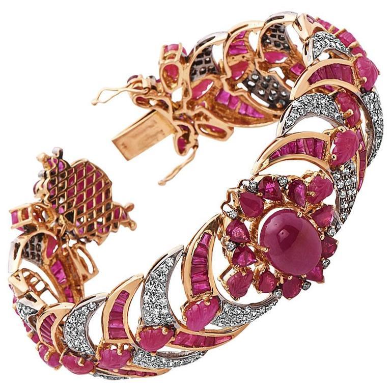 Diamond  Ruby bracelet 1