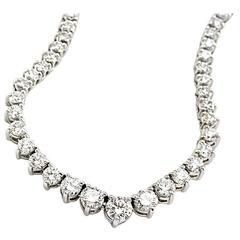 Graduating Diamond Gold Riviere Necklace