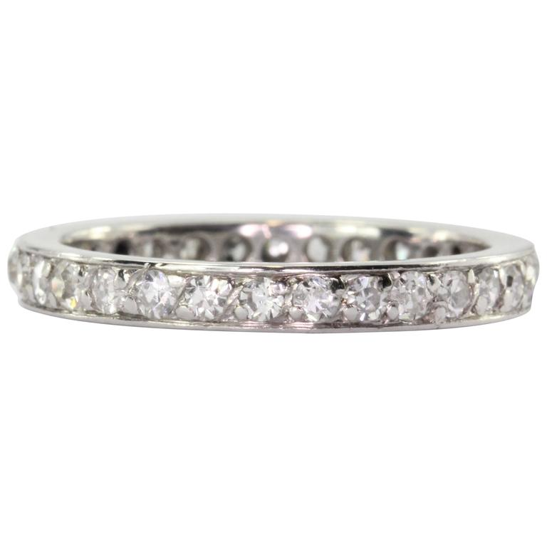 antique platinum eternity band for sale at 1stdibs