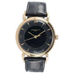 1950s Vacheron & Constantin Black Dial Gold Wristwatch
