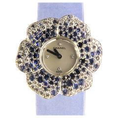 Chanel Camellia Diamond Sapphire Flower Watch