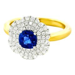 Spark Sapphire and Diamond Ring