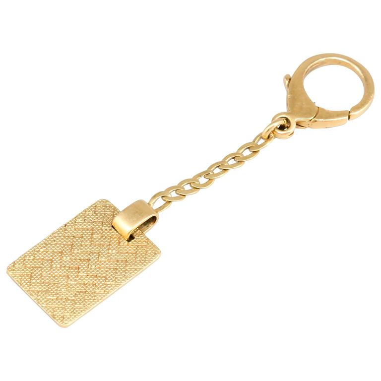 DUNHILL Yellow Gold Keychain For Sale