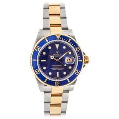 "Rolex Submariner Ref. 16613T Two-Tone 'Blue on Blue"" Wristwatch"