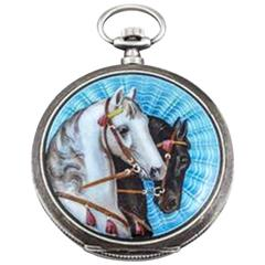 Asprey London Horse Racing Enamel Pocket Watch Circa 1925