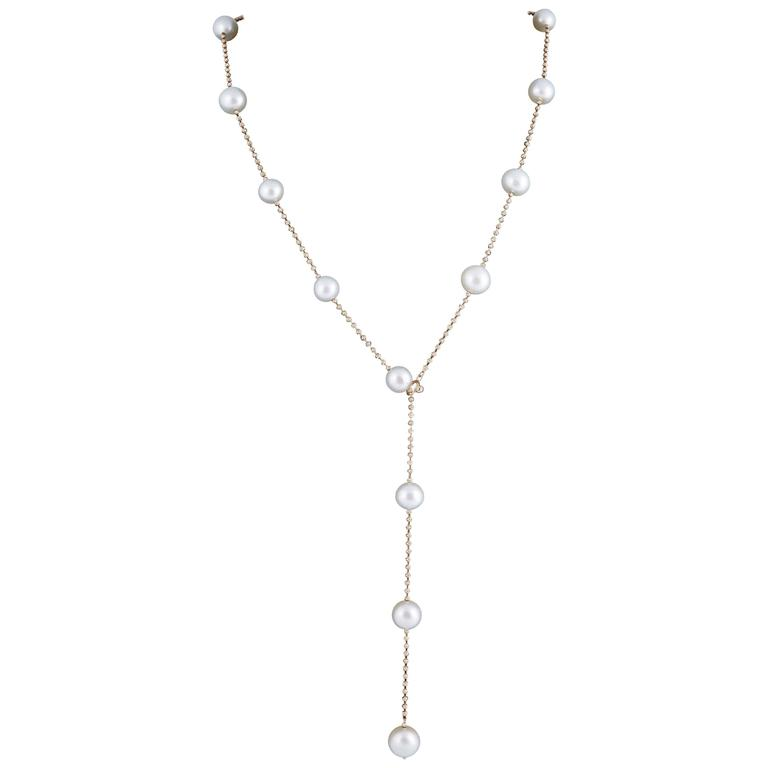 Fancy Cultured Pearl Lariat Necklace