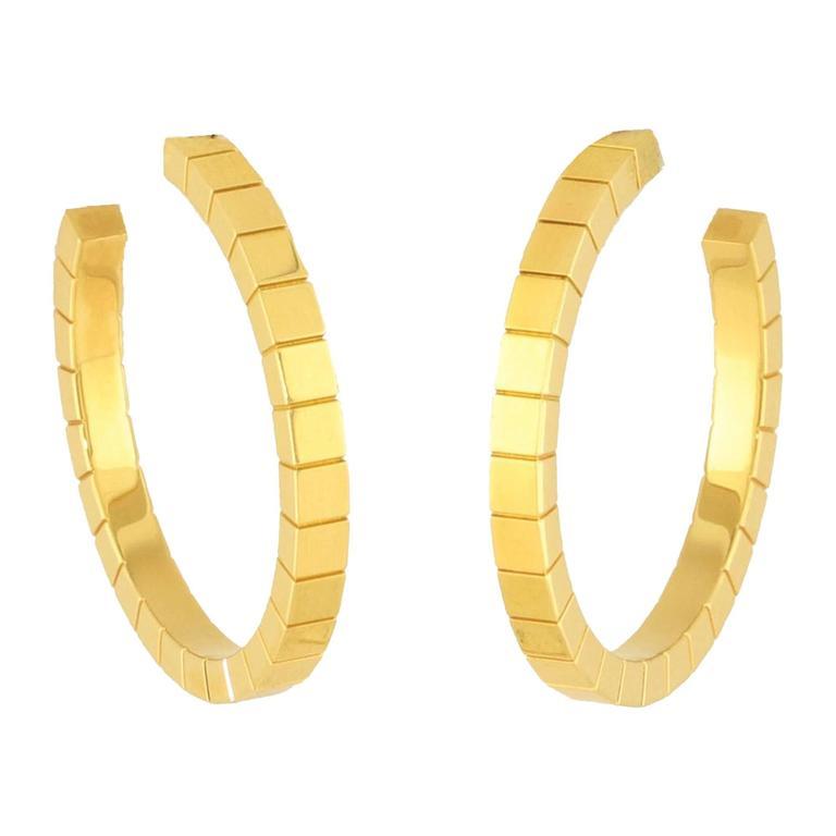 Cartier Gold Lanieres Hoop Earrings 1