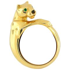 Cartier Emerald Gold Panther Ring