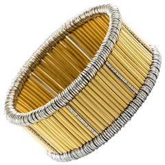 Diamond and Gold Flexible Bracelet