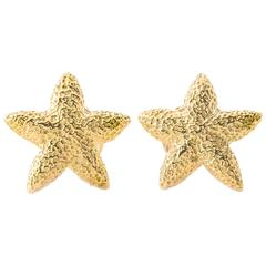 Mish New York Gold Starfish Cufflinks