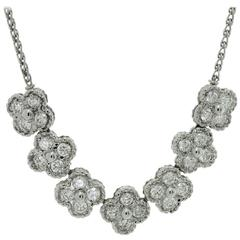 VAN CLEEF & ARPELS Arno Alhambra Diamond White Gold Necklace