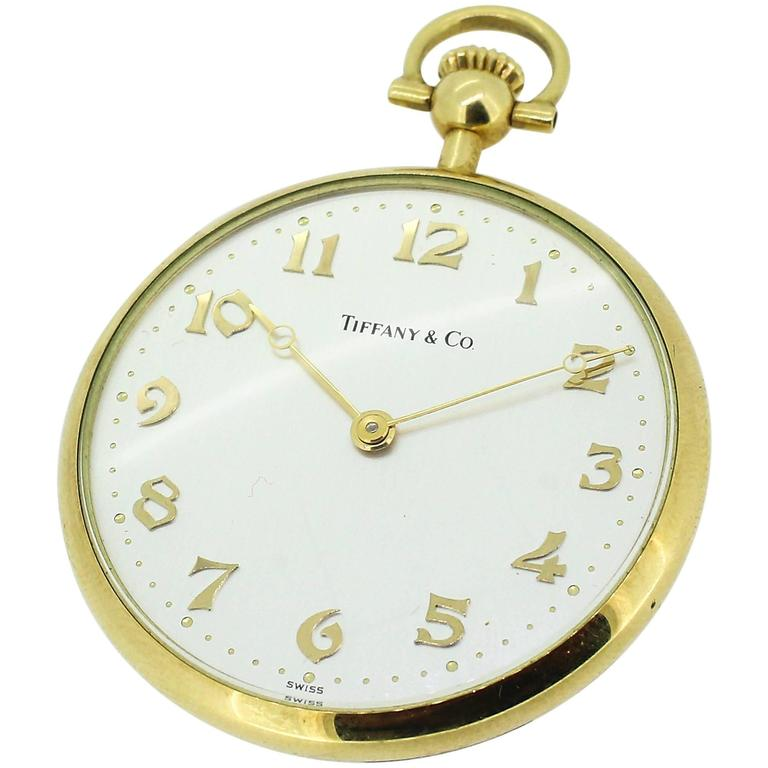 Yellow Gold Tiffany and Co Pocket Watch For Sale