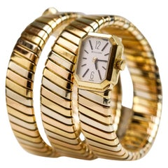 "Bvlgari ""Bulgari"" Tricolor 18k Gold Lady's Tubogas Serpenti Watch"