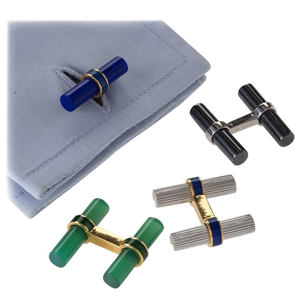 Cartier Set of Interchangeable Baton Cuff Links