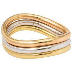 Faraone Mennella  tri-color gold bangle bracelets