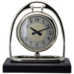 S.Nordlinger from Los Angeles Equestrian Style Art Deco Dual Face Clock