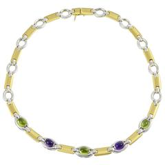 Colourful Italian Gemstone Necklace