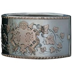 Wide Sterling Bangle with Coat of Arms