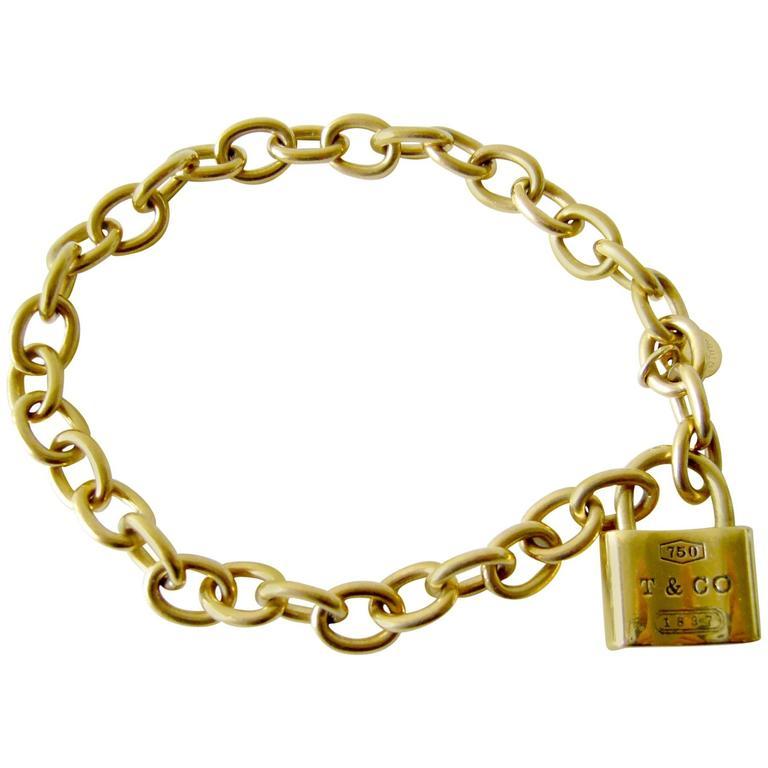 7b5b754ab Tiffany and Co. 1837 Padlock Charm Bracelet at 1stdibs