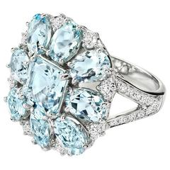 Ana Carolina Aquamarine Diamond Gold Ring