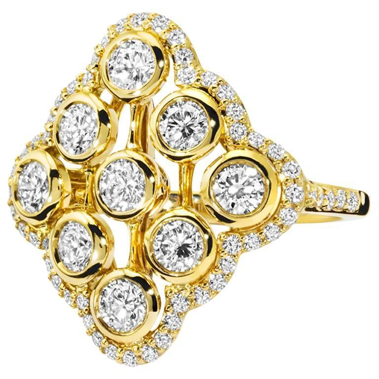 Acai Diamond Gold Ring
