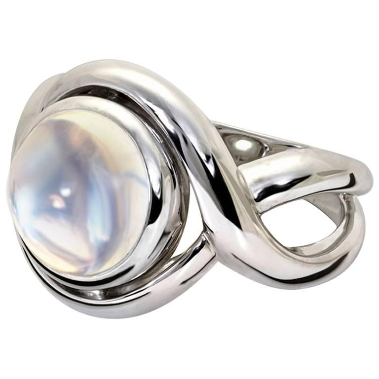 Severine Moonstone Gold Ring For Sale